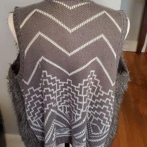 Xhilaration Jackets & Coats - FAUX Fur /Sweater Vest.